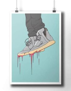 yeezy 750 poster yeezy boost 750 sneakers poster etsy