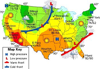 weather map teaching weather sixth grade