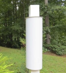 squirrel baffle 4x4 vinyl post white cylindrical 28 quot the birdhouse - 4x4 Post Squirrel Baffle