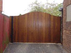 metal framed wooden estate gates steel framed wood gates