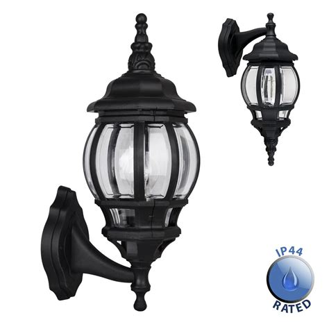 large black ip44 outdoor garden wall light