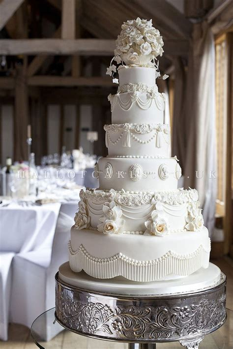 classic white wedding cake hall cakes uk romantic