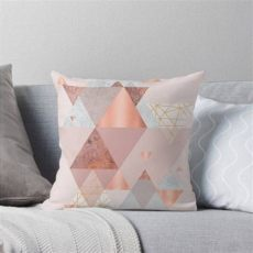 blush grey copper cushions geometric cushion in blush pink grey and copper with gold accents scandinavian style modern