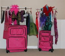 dance costume bag with rack bag wardrobe rack bags
