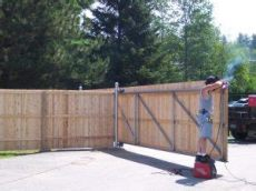 how to build a timber sliding gate custom gates and fences dallas fort worth best new fence contractor quality board on board