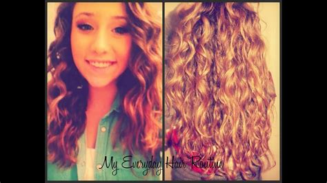 everyday hair routine curly wavy hair youtube