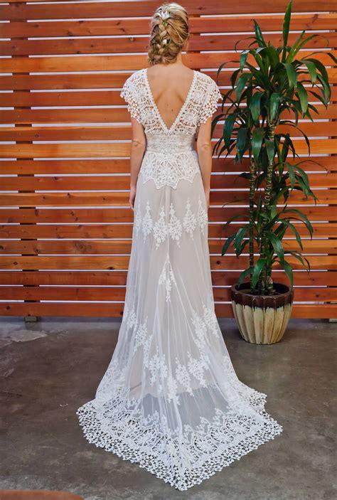 azalea boho cotton lace wedding dress dreamers lovers