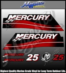 mercury outboard decals mercury 25 hp outboard decal set ebay
