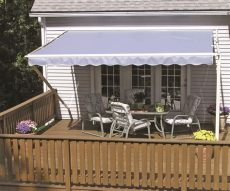 sunsetter motorized retractable awnings in la by galaxy draperies - Sunsetter Installation Motorized
