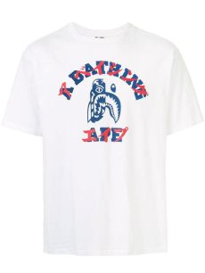 bape t shirt singapore price bape logo print t shirt in white modesens