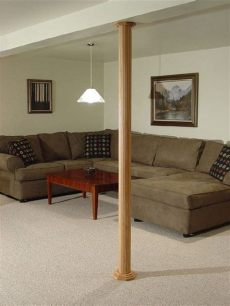 pole wrap ideas pole wrap beautifully accents your basement poles not only easy to install but you can paint