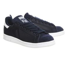 stan smith shoes navy blue adidas stan smith in blue navy lyst