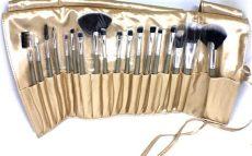 set de brochas para maquillaje walmart set de brochas kit maquillaje dorado 18 pzs envio grati wt d 425 00 en mercado libre