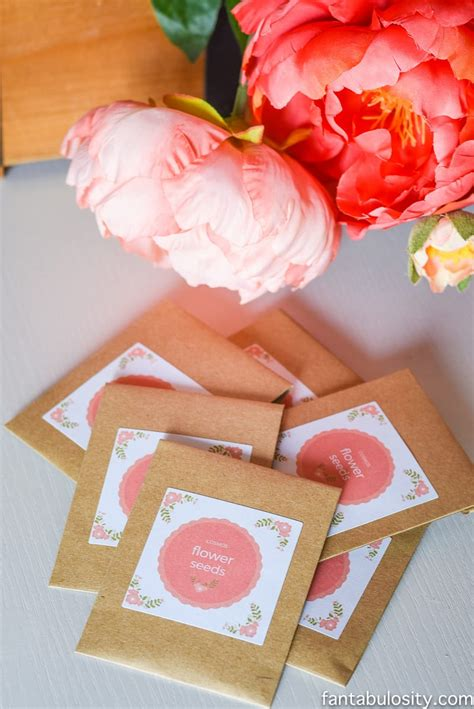 flower seed party favors party wedding fantabulosity