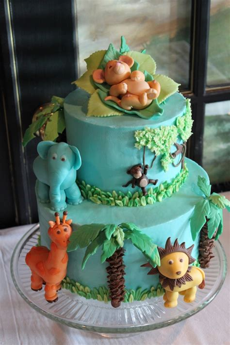 jungle baby shower cakecentral