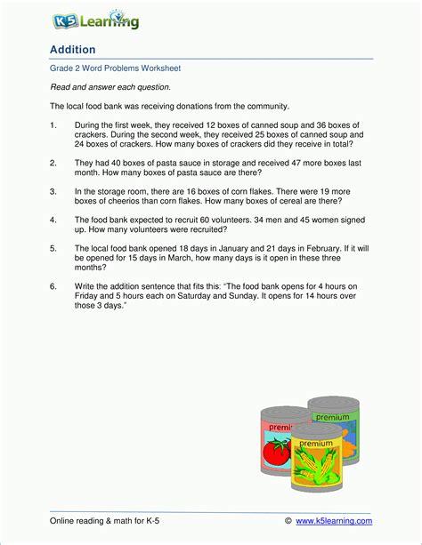 grade 2 addition word problem worksheets 1 2