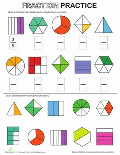 2nd Grade Fraction Review Worksheet.html