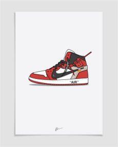 nike off white jordan 1 drawing image of new the ten white air 1 chicago sneakers illustration sneaker