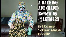 bape shark hoodie legit check bathing ape bape 1st camo yellow shark hoodie unboxing review legit check guide