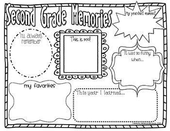 freebie grade memories year activity school stuff year
