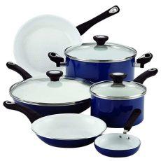sartenes antiadherentes ceramica olla set grandes cacerolas de cocina cocinar ebay - Ollas Grandes Para Cocina