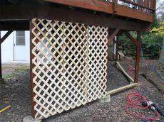 installing lattice fence panels adding lattice to the bottom of a deck hgtv