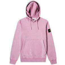 stone island garment dyed popover hoody rose quartz island garment dyed popover hoody quartz end
