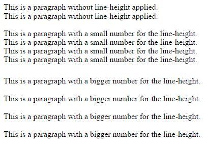 setting line spacing css single line