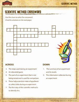 scientific method story worksheet answers scientific method crossword
