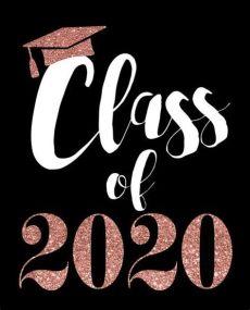 rose gold foosites grade school class of 2020 black and gold glitter graduation printable decorations graduation
