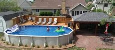 above ground pool deck plans oval prefab wood decks for above ground pools decks ideas