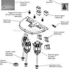 hamilton hmd400 parts list and diagram a ereplacementparts - Hamilton Beach Hmd400 Parts