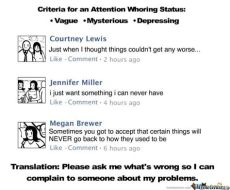 attention seekers on facebook memes typical attention seekers by averis007 meme center