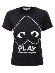 comme des garcons play t shirt dame comme des gar 231 ons play womens t shirt black in black lyst