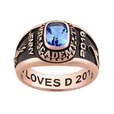 rose gold foosites grade school freestyle class rings personalized gold celebrium traditional class ring