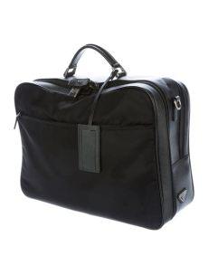 prada computer bag prada saffiano trimmed laptop bag bags pra144645 the realreal