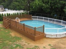 above ground pool wooden deck kits 18 contemporary swimming pool wooden deck designs