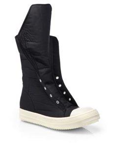 rick owens ramones boots drkshdw by rick owens ramones hightop sneaker boots in black lyst