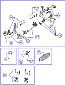 herman miller aeron home office ergonomic chair parts accessories and service - Herman Miller Aeron Chair Parts Diagram