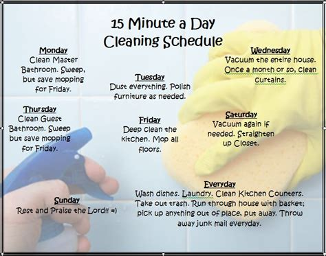 flour oil cleaning schedule