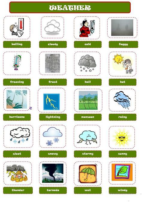 weather pictionary worksheet free esl printable worksheets teachers