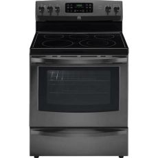 horno kenmore kenmore 96197 5 4 cu ft electric range w convection oven black stainless steel sears outlet