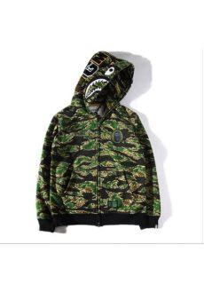 black and green camo bape hoodie a bathing ape bape wgm camo shark hoodie black green