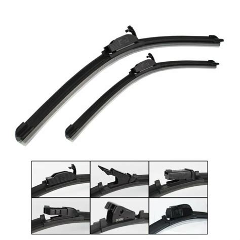 2pcs auto windshield wiper blades bracketless frameless fit