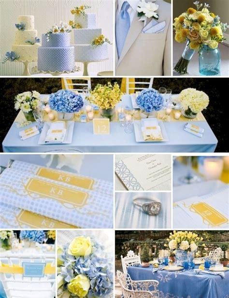 25 pretty blue yellow flowers table wedding decoration