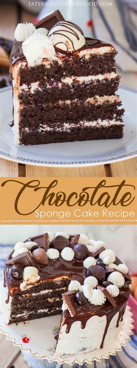 ultimate chocolate sponge cake recipe video recipe sponge