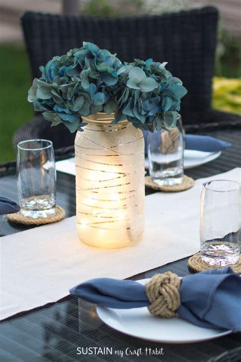 upcycling glass jars diy wedding centerpieces sustain craft
