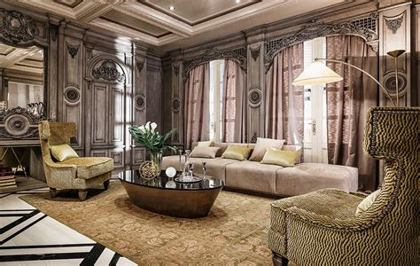 neoclassical art deco features luxurious interiors