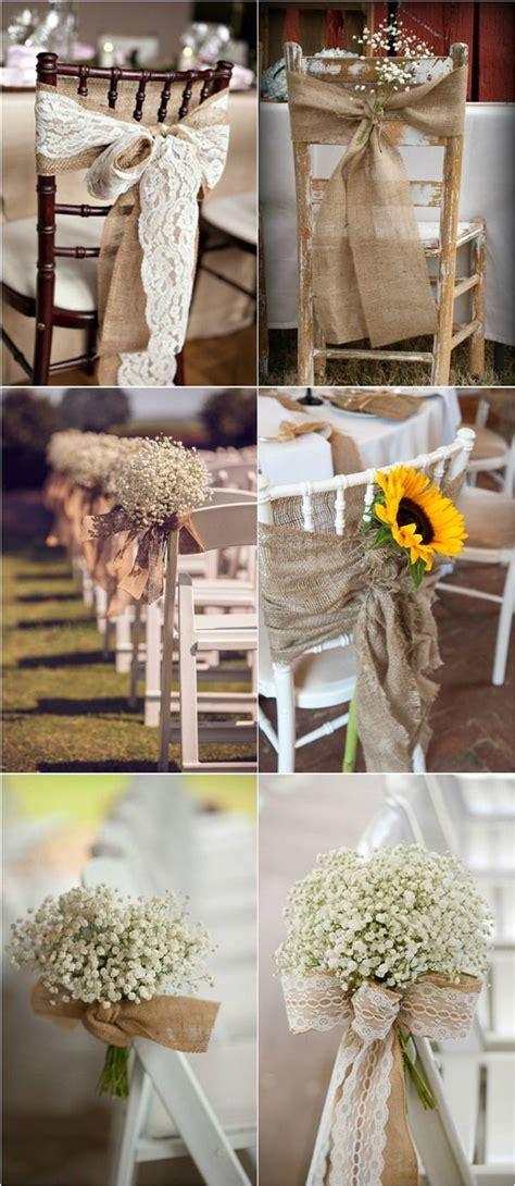 30 rustic burlap lace wedding ideas wedding chair