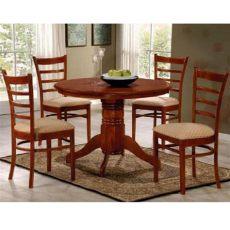 comedor redondo de madera 4 sillas juego de comedor redondo 4 sillas tapizadas madera lcm 12 990 00 en mercado libre